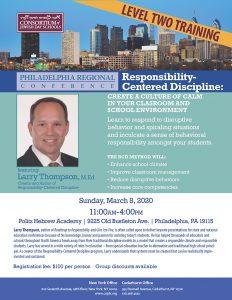 Philadelphia Regional Conference: L. Thompson Level II Training 03.08.20