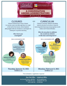 Conversation Among Administrators Webinar 01.19.21 and 02.08.21 One RSVP works for either or both Webinars.